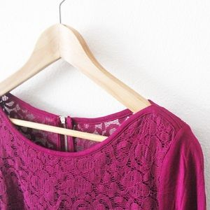 NWT New York and Company Lace T-Shirt 1958